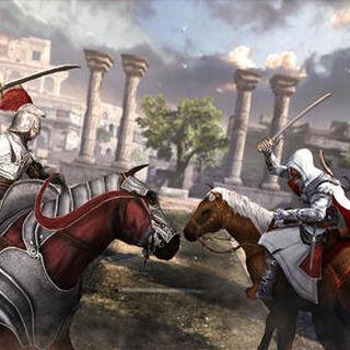 挨齐奥与波奇亚的士兵马上战斗