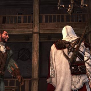Ezio en Bartolomeo in de gerenoveerde barakken