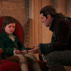 Charles vertelt Arno hoe laat hij terug is