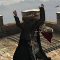 Ezio vermoordt Antonio Maffei.