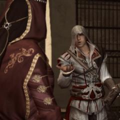 Ezio vraagt waarom Paola hem hielp.