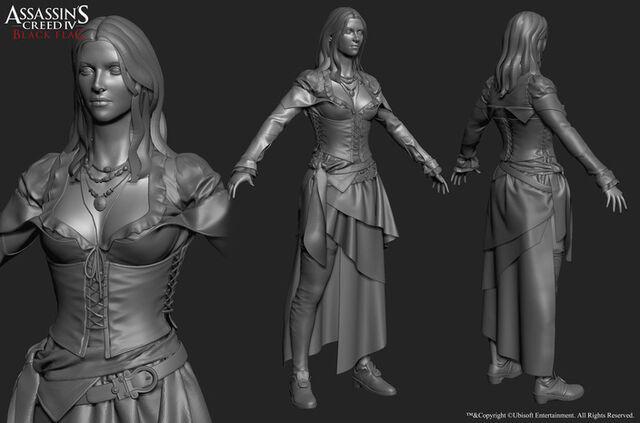 Bestand:AC4 Anne Bonny 3D model by threedsquid.jpg