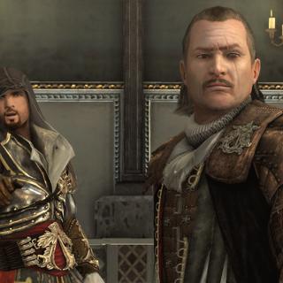 Ezio en Mario in de Sixtijnse Kapel