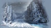 New York outskirts - The frozen waterfalls - by EddieBennun