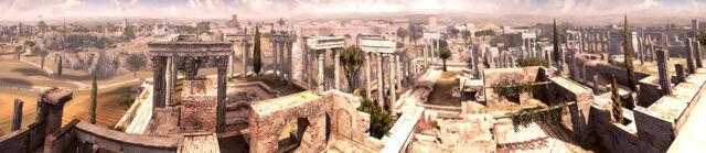 File:Terme di Traiano Panorama.jpg
