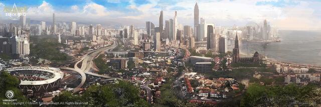 File:Assassin's Creed IV Black Flag Montreal City Concept Art by EddieBennun.jpg