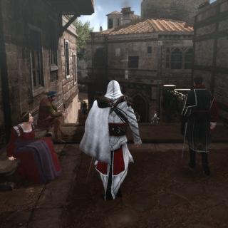 Ezio volgt Machiavelli door Rome