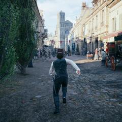 Arno achtervolgt de kar