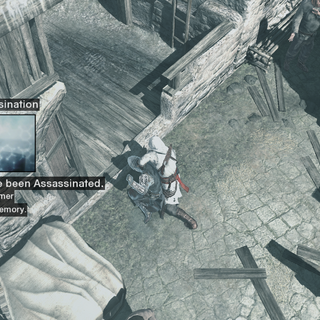 Altaïr doodt het doelwit.