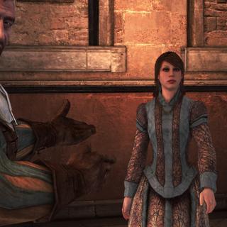 Bartolomeo stelt Pantasilea voor aan Ezio