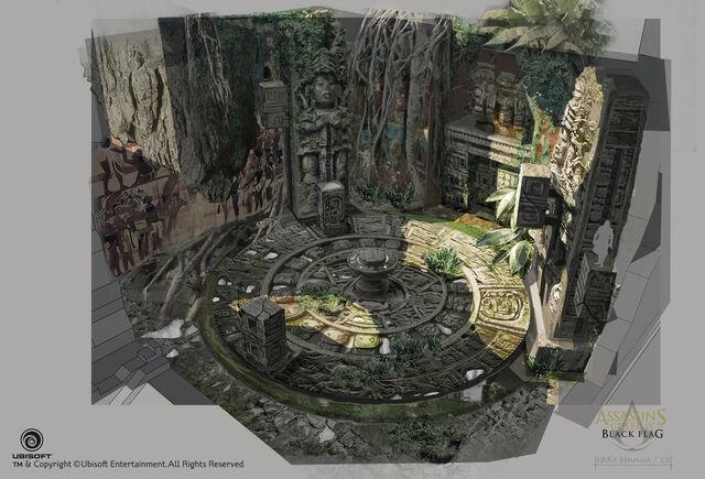 File:Assassin's Creed IV Black Flag Aveline Mission Temple Concept Art by EddieBennun.jpg