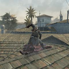 Een Assassijn vermoordt een wachter