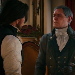 Olivier in gesprek met Arno