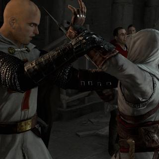 Altaïr valt Robert aan.