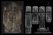 ACU DK Saint Denis Temple Door 01 - Concept Art