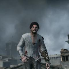 Ezio wordt neergeschoten door <a href=