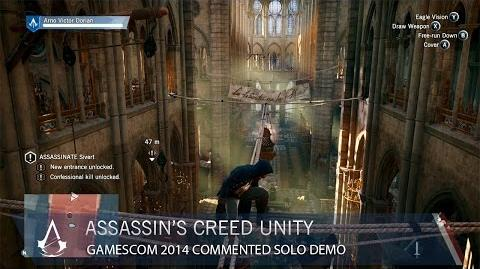 Assassin's Creed Unity Gamescom 2014 Commented Solo Demo US