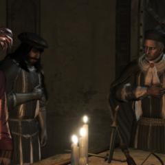 De samenzweerders beëindigen de vergadering.