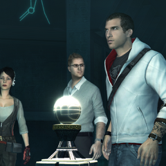 Desmond Miles and the others recovering Ezio's Apple