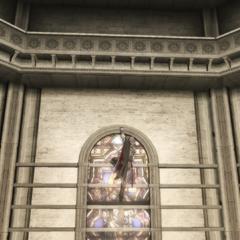 Ezio baant zich een weg omhoog.