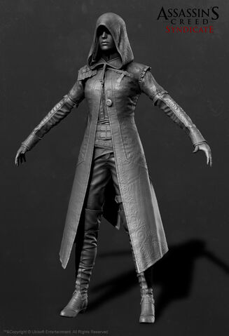 File:ACS Evie Frye Nightshade Cloak ZBrush Model - Front View.jpg
