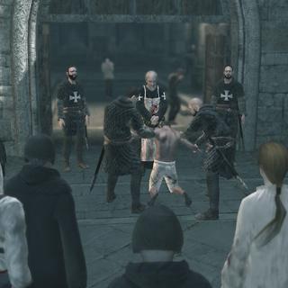 Altaïr tussen de menigte.