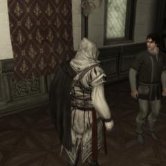 Ezio praat met de <a href=