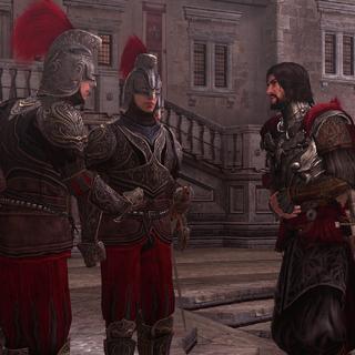 Cesare ontmoet zijn commandanten.