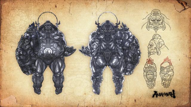 File:Asura's Wrath Concept Art Gongen Wyzen.png