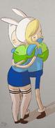 Fionna and Finn Hug