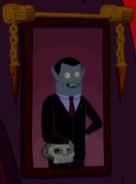 Hunson with skull
