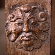 Dore Abbey carving Foliate Head