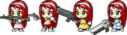BannedStory MapleStory Atomic Betty and her Clones with guns
