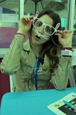Laura Marano with bunny glasses