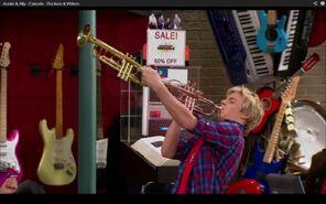 Trumpet through another trumpet