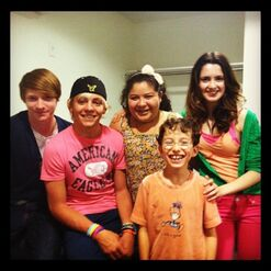 Laura, Raini, Calum, Ross, and Cole