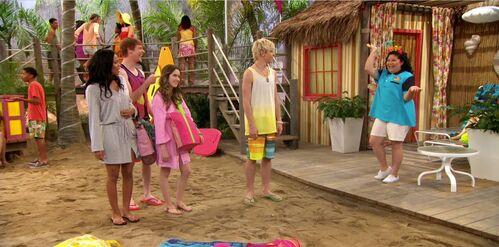 Trish's new job at Shredder's Beach Club