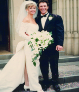 Nicky Buckley and Murray Bingham on their wedding day.