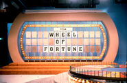 Wheel of fortune set from the 1990