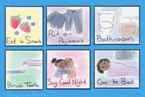 Illustrated Bedtime Schedule by MissLunaRose