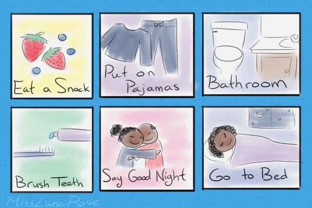 File:Illustrated Bedtime Schedule by MissLunaRose.png