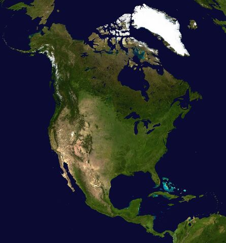 Datei:North America satellite orthographic.jpg