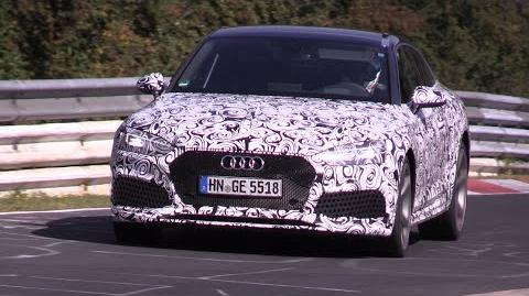 2018 Audi RS5 Testing on the Nurburgring!