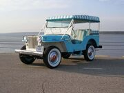 1964 Willys Jeep DJ-3A Surrey Gala in Blue