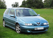 Alfa Romeo 145 first registered in UK October 2000 1598cc photographed at Knebworth