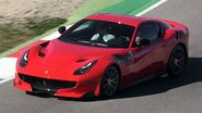 F12TDF (red) on-track