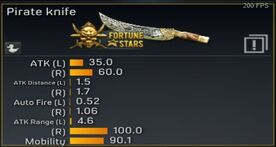 Pirate Knife Stats