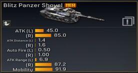 Blitz Panzer Shovel stats