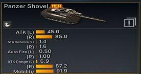 Panzer shovel stats