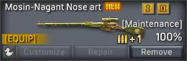 Mosin-Nagant Nose art uncustomizable